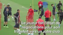 Neymar s'entraîne avec le PSG à la veille du match contre Rennes