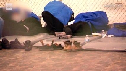 ABD sınır gözaltı merkezinin içinden görüntüler