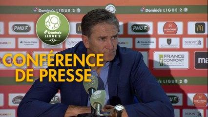 Conférence de presse RC Lens - Havre AC (1-3) : Philippe  MONTANIER (RCL) - Paul LE GUEN (HAC) - 2019/2020