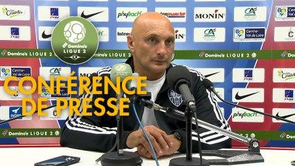 Conférence de presse Châteauroux - AC Ajaccio (0-1) : Nicolas USAI (LBC) - Olivier PANTALONI (ACA) - 2019/2020