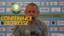 Conférence de presse Paris FC - Chamois Niortais (0-1) : Mecha BAZDAREVIC (PFC) - Pascal PLANCQUE (CNFC) - 2019/2020