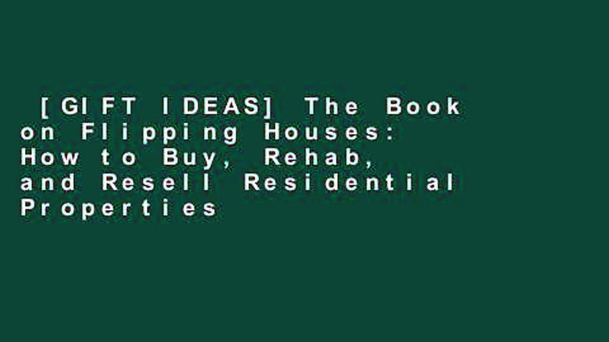 [GIFT IDEAS] The Book on Flipping Houses: How to Buy, Rehab, and Resell Residential Properties