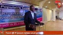 Pascal Affi N'Guessan, Président du Front populaire ivoirien (FPI) explique son programme de gouvernement
