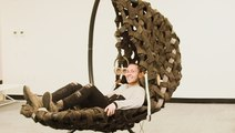This giant cocoon pod is designed to ease office stress in 7 minutes