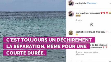 """PHOTO. Triste, Marc-Olivier Fogiel prend l'avion et laisse ses filles à Saint-Barth : """"Les départs ne sont jamais faciles"""""""
