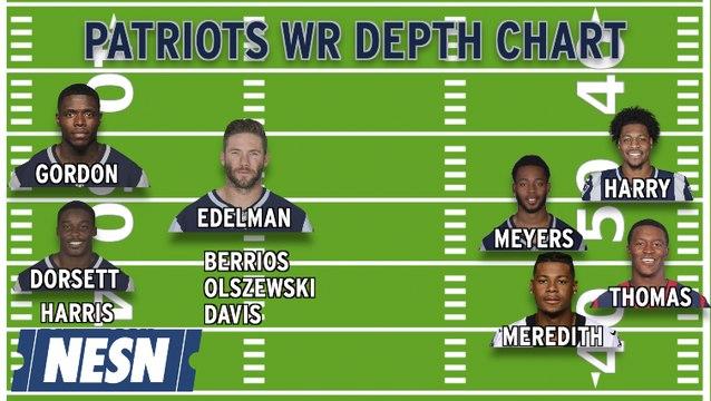 Patriots Wide Receiver Depth Chart With Josh Gordon