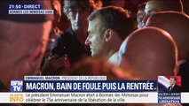 À Bormes-les-Mimosas, Emmanuel Macron explique sa réforme des retraites