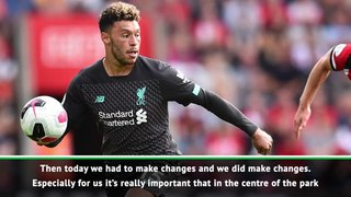 Klopp delighted by 'outstanding' Oxlade-Chamberlain