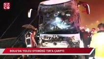 TEM'de yolcu otobüsü TIR'a çarptı!