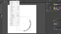 Adding text in the shape of a circle (Adobe Illustrator)