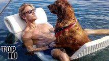 Top 10 Hot Men With Dogs