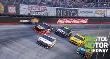 Johnson, Dillon bring out caution at Bristol