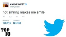 Top 10 Kanye West Dumbest Tweets - Part 2