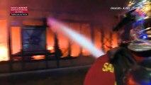 Hauts-de-Seine: Un incendie détruit le marché Henri-Barbusse à Levallois-Perret - Aucune victime - 90 personnes évacuées - VIDEO