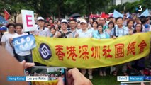Hong Kong : les pro-Pékin manifestent contre le mouvement démocratique