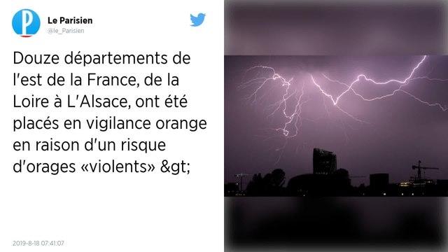 Orages : 12 départements en vigilance orange.
