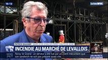 """""""Je suis très triste (...) il ne reste strictement rien du marché: Patrick Balkany, maire de Levallois-Perret s'exprime sur l'incendie qui a ravagé le marché"""