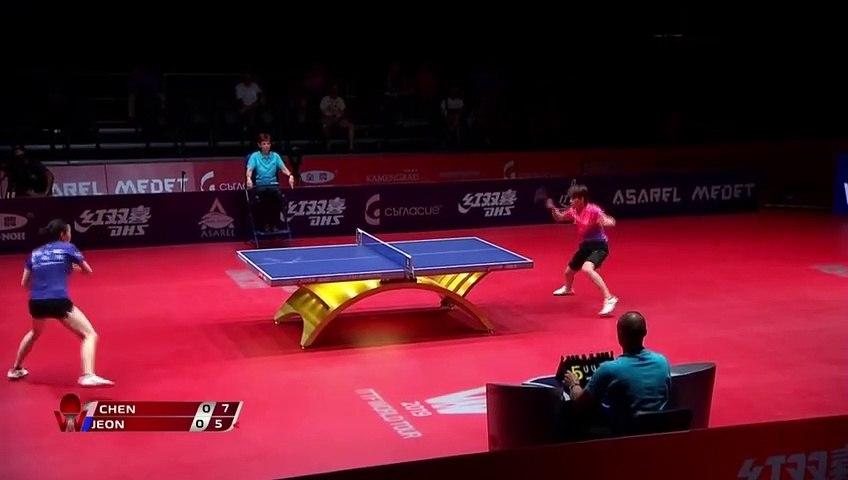 Chen Xingtong vs Jeon Jihee | 2019 ITTF Bulgaria Open Highlights (1/4)