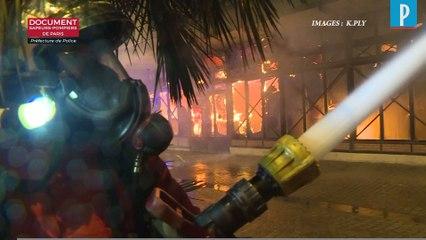 A Levallois, le marché couvert ravagé par les flammes