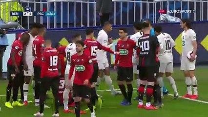 27/04/19 : SRFC-PSG (2-2) : carton rouge Mbappe (118')