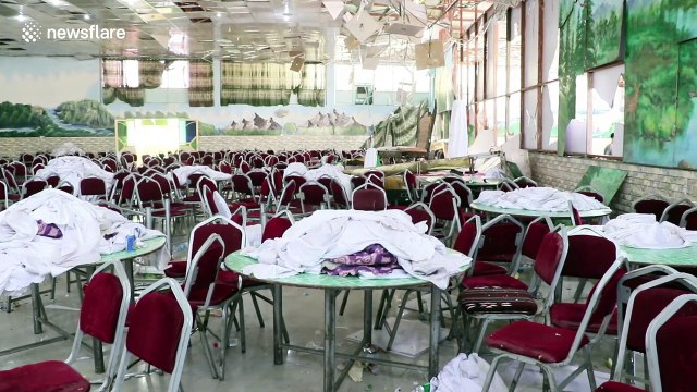 Kabul bomb-blast rips through wedding venue leaving devastation in its wake