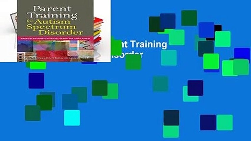 [NEW RELEASES]  Parent Training for Autism Spectrum Disorder
