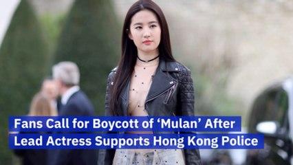 The Star Of 'Mulan' Defends Hong Kong Police