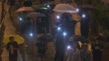 홍콩시민 빗속 대규모 행진...中 무장 경찰 개입 촉각 / YTN