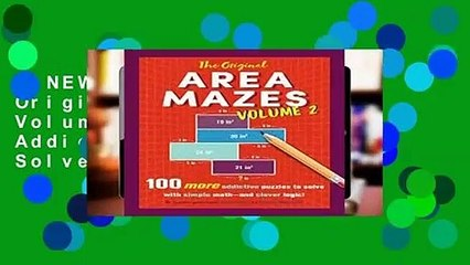 [NEW RELEASES]  The Original Area Mazes, Volume 2: 100 More Addictive Puzzles to Solve with