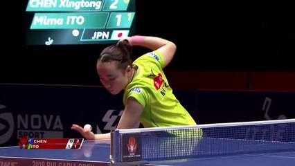 Chen Xingtong vs Mima Ito | 2019 ITTF Bulgaria Open Highlights (1/2)