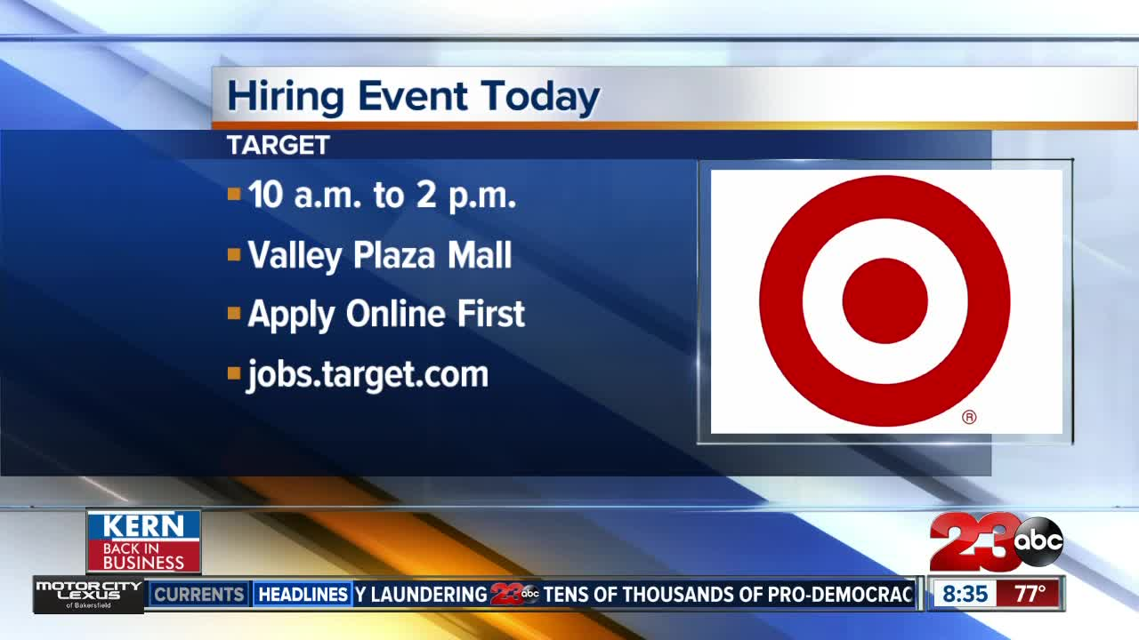 Target looking to hire up to 30 new employees for the Valley Plaza Mall store