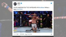 Cleveland athletes react to Stipe Miocic reclaiming the UFC heavyweight title.