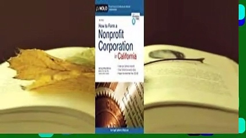 About For Books  How to Form a Nonprofit Corporation in California  Best Sellers Rank : #3