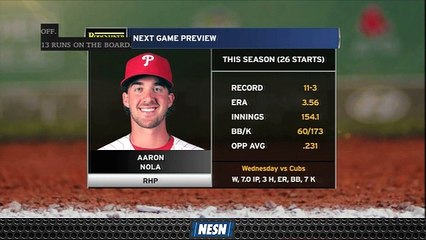 Red Sox Set To Face Aaron Nola In Series Opener Vs. Phillies