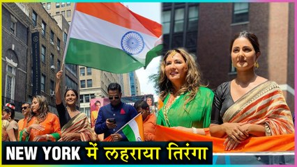 Hina Khan Represents India In New York | Fans Go CRAZY