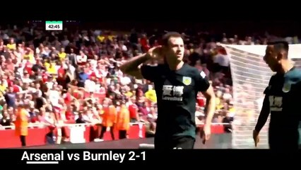arsenal vs burnley 2 1 extended highlights premier league 19 20