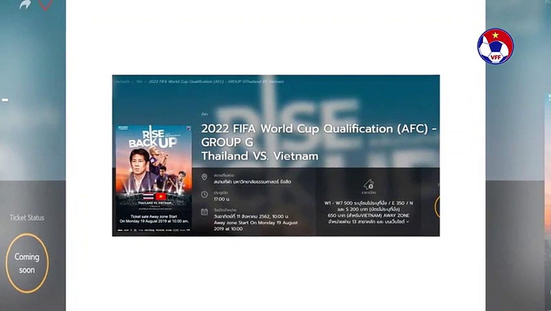 Mua vé online trận ĐT Thái Lan-Việt Nam ở vòng loại World Cup 2022 | VFF Channel