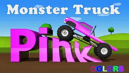 Learning Kids - Children lesson -Color Lessons For Kids With Monster Trucks - Learning Kids - Children Education - Pink Color - Monster Trucks - Learning Kids - Children Education -===)( (1)