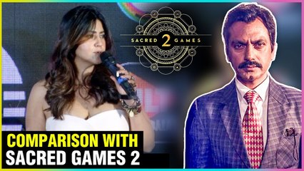 Ekta Kapoor SUPERB Reaction To Sacred Games 2 VS M.O.M Mission Over Mars Series