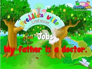 Learning Kids - Children lesson -Jobs Vocabulary, Sentences Lesson, English for Kids - (1)