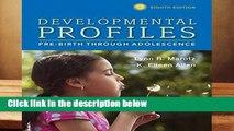 [Doc] Developmental Profiles: Pre-Birth Through Adolescence