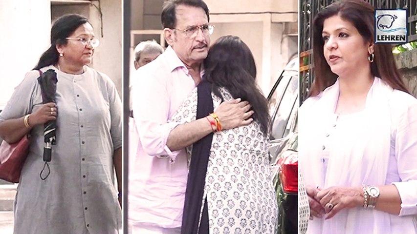 Celebs Spotted At The Prayer Meet Of Actress Vidya Sinha