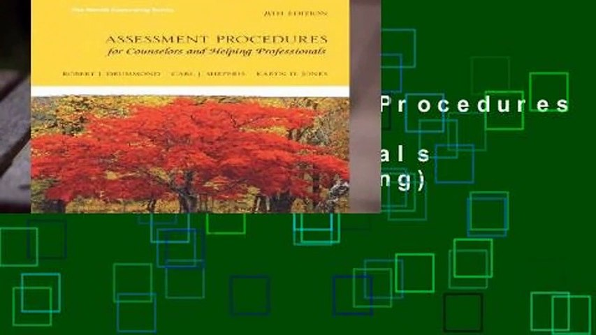 [READ] Assessment Procedures for Counselors and Helping Professionals (Merrill Counselling)