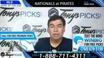 Nationals Pirates MLB Pick 8/19/2019