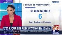 Il est tombé l'équivalent de 6 jours de pluie en l'espace de 12 minutes ce dimanche dans l'Ain