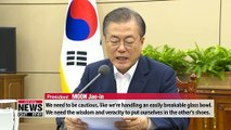 Dialogue with N. Korea can succeed when disturbing actions are avoided: Pres. Moon