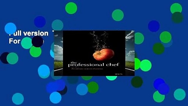 Full version  The Professional Chef  For Online