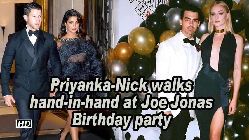 Priyanka-Nick walks hand-in-hand at Joe Jonas Birthday party