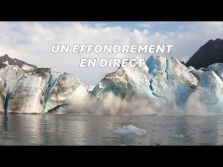 Ces kayakistes filment l'effondrement d'un glacier et frôlent la catastrophe
