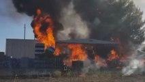 Melfi (PZ) - Incendio alla Sapa Plastiche dell'indotto Fca (19.08.19)